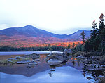 Early Light, Mt. Katahdin at Sandy Stream Pond in Fall