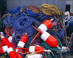 Lobster Buoys and Lines, Bass Harbor