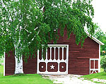 Red Barn and White Birch