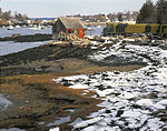 Lobster Shack and Winter Coastline, Mackerel Cove