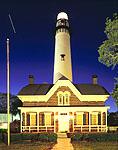 St. Simons Island Light Station at Night