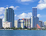 Miami Skyline and Biscayne Bay from Rickenbacker Causeway