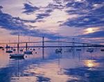Morning Calm - Jamestown Harbor and Newport Bridge