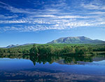 Mt. Katahdin and Penobscot river with Knife's Edge