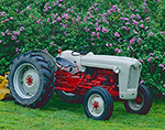 1953 8NN Jubliee Tractor and Lilacs
