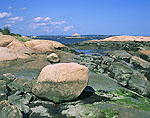 Rocky shore, View from Horse Island, The Thimbles