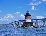 Plum Beach Lighthouse and Jamestown Bridge