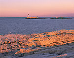 Dawn at Isles of Shoals (White Island) Lighthouse as seen from Star Island Shoreline
