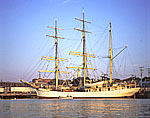 "The Tall Ship ""Picton Castle"" in Gloucester Harbor"