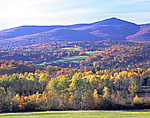 View of Haystack Mountain in Fall