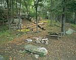 Riverside Campsite in Seldon Neck State Park, Seldon Island