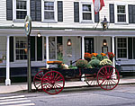 Old Wagon at Griswold Inn with Pumpkins and Fall Chrysanthemums