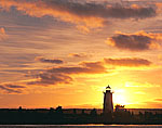 Sunrise and Edgartown Lighthouse