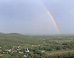 Rainbow over Sunderland, MA