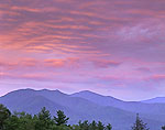 Early Morning Clouds Over Porter Mountain, High Peaks Wilderness Area