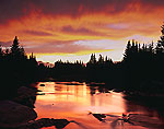 Spectacular Sunset, Swift Diamond River, Great North Woods