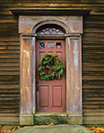 Natural Christmas Wreath and Doorway