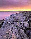 Sunset on Rugged New Hampshire Coastline