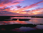 Sunset over Great Bay Boulevard Salt Marsh,
