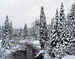 Salmon River in Winter, Adirondack Park