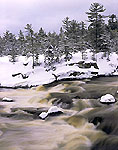 Rapids at Big Eddy After Snowfall