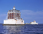 New London Ledge Light and Race Point Ferry, Long Island Sound