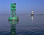 Light Buoy and Peck Ledge Light, Long Island Sound