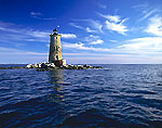 Whaleback Lighthouse and Cirrus Clouds