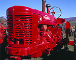 Bright Red McCormick Farmall Tractor