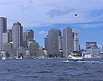 Boston Tour Boat and Blimp, Boston Waterfront