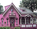 Pink Gingerbread House, Martha's Vineyard