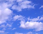 White, Puffy Clouds (Cumulus) and Blue Sky