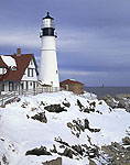 Portland Head Light in Winter