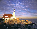 Late Light at Portland Head Light with Ram Island Ledge Light in Background