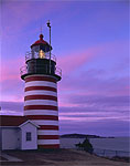 Sunset, West Quoddy Head Light, Cobscook Bay Area, Quoddy Head State Park