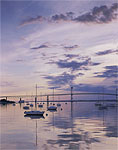 Predawn, Jamestown Harbor and Newport Bridge