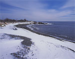 Maine Coast Shoreline at Phillips Cove in Winter