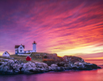 Sunrise at Nubble Light, Cape Neddick Light, Cape Neddick, York, ME