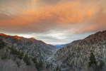 Sunrise over Mountains, View from Morton Overlook on Newfound Gap Road, Great Smoky Mountains National Park, NC