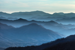 Mountain Layers in Early Evening Light, View from Newfound Gap Road, Great Smoky Mountains National Park, NC