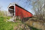 Neet Covered Bridge over Little Raccoon Creek, Built 1904, Parke County, near Bridgeton, IN