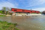 Bridgeton Bridge (Built 2006) and Dam over Big Raccoon Creek, Parke County, Beidgeton, IN