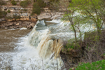 Upper Falls at Cataract Falls on Mill Creek in Spring, Cataract Falls State Recreation Area, Owen County, Cataract, IN