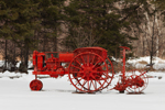 Antique Tractor with Mower, Forest County, Wabeno, WI