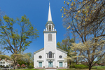 Greenfield Hill Congregational Church in Early Spring, Fairfiled, CT