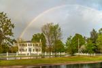 Rainbow over La Bastille and The Common, Royalston, MA
