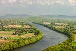 Connecticut River and Pioneer Valley, View from Top of Mount Sugarloaf in South Deerfield, MA