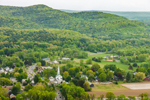 View of Sunderland in Early Spring from Top of Mount Sugarloaf in South Deerfield, MA