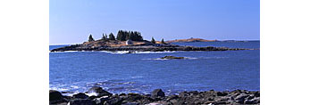 View of Green Island, Sheep Island and Roberts Island from Bob Meadow Point, Areys Neck Woods