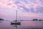 Sailboats at Sunset on Pine Island Bay, Groton, CT